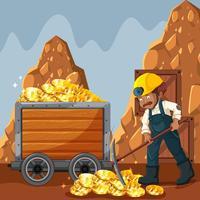 Cyber Coin Mining et Travailleur vecteur