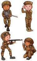 Soldats courageux vecteur