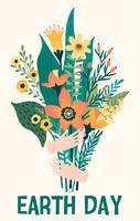 Jour de la Terre. Modèle de vecteur pour carte, affiche, bannière, flyer