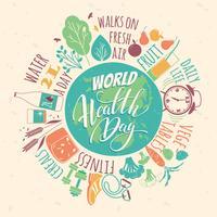 Illustration vectorielle de santé mondiale.