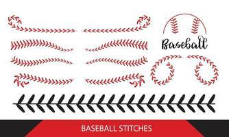 points de baseball sur fond blanc vecteur