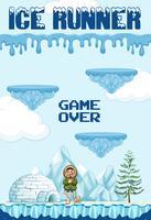 Élément de jeu Ice Runner vecteur