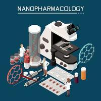 illustration vectorielle de nanotechnologie composition isométrique vecteur