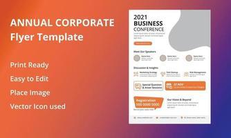 dépliant annuel de la conférence d'entreprise vecteur