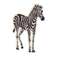 ressource graphique d'illustration animale de zèbre de vecteur