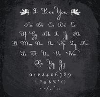 Illustration vectorielle de l'alphabet à la craie