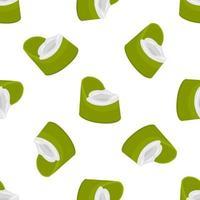 pots pour bébés abstraits en plastique sans couture avec poignée confortable vecteur