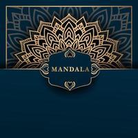 Élément ethnique de fond de mandala de luxe vecteur