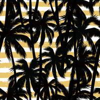 Tendance motif exotique sans soudure avec des éléments palmiers et géométriques. vecteur