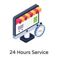 service 24 heures vecteur