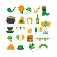 Ensemble d'éléments sur le thème de la Saint Patrick vecteur