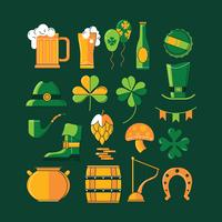 Éléments de design sur le thème de la Saint Patrick vecteur