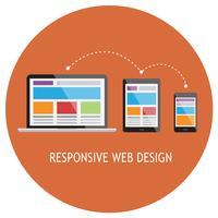 Site Web adaptatif vecteur