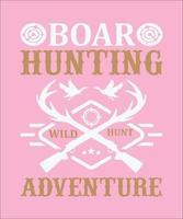 chasse au sanglier aventure de chasse sauvage vecteur
