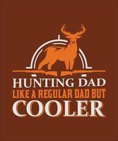 papa chasse comme un papa ordinaire mais coller vecteur