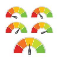 indicateur de niveau de compteur de vitesse pour l'évaluation de différents niveaux de qualité vecteur