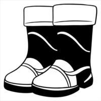 protection contre la pluie. deux bottes en caoutchouc pour marcher dans les flaques et la boue. vecteur
