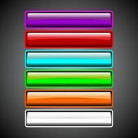 Collection de boutons brillants vecteur