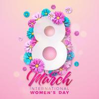 Carte de voeux pour la journée des femmes