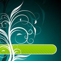 illustration vectorielle de printemps avec motif floral