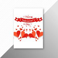 Vecteur de brochure carte beau coeur Saint Valentin