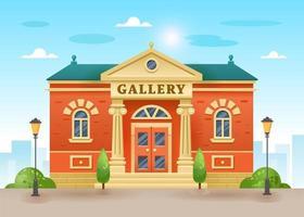 bâtiments de galerie ou de musée vecteur