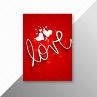 Arrière-plan du modèle de carte belle Saint Valentin brochure