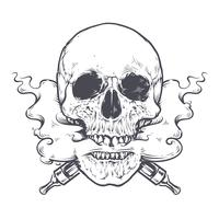 art du crâne vecteur