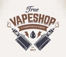 Emblème de Vape Shop vecteur