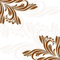 Illustration de fond floral élégant décoratif vecteur
