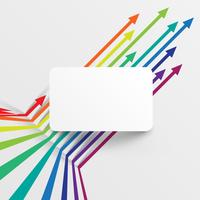 Modèle coloré et propre avec des flèches, illustration vectorielle vecteur