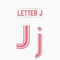 lettre abstraite j avec un design créatif vecteur
