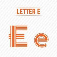 lettre abstraite e avec un design créatif vecteur