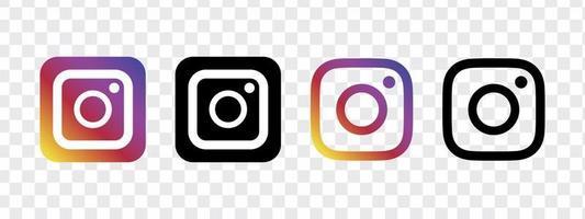 jeu d'icônes d'application mobile instagram vecteur