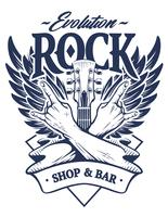Rock Emblem Clipart vectoriel