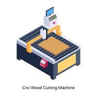 machine de découpe de bois cnc vecteur