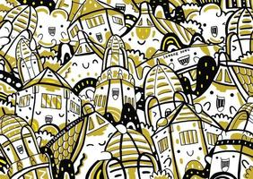 lawang sewu doodle dans un style design plat vecteur