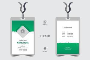 carte d'identité de bureau et badge de sécurité personnel, pass événement presse vecteur