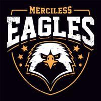 Modèle d'emblème grunge de mascotte Eagle vecteur