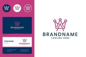 création de logo d'art en ligne lettre a et couronne vecteur