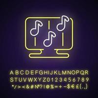 icône de néon de jeux de rythme vecteur