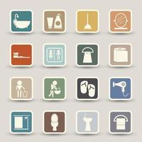 icônes de salle de bain mis en illustration vecteur