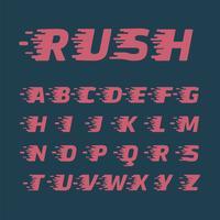 Jeu de caractères 'Rush', illustration vectorielle vecteur