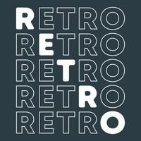 typographie rétro minimale pour t-shirt, timbre, impression de tee, applique. vecteur