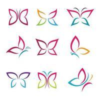 images de logo papillon beauté vecteur