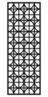 ornements de gravure découpés au laser pour fenêtre, porte, design d'intérieur vecteur