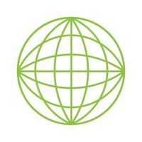 icône de la planète terre éco verte vecteur