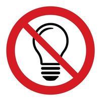 ampoule désactivée ou aucune idée et aucune icône simple d'inspiration vecteur