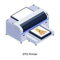 imprimante à jet d'encre dtg vecteur