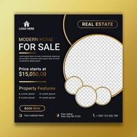modèle de bannière de vente de maison immobilière pour la publication sur les réseaux sociaux vecteur